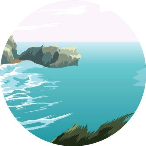 ocean art illustration vector illustrator adobe illustratrice