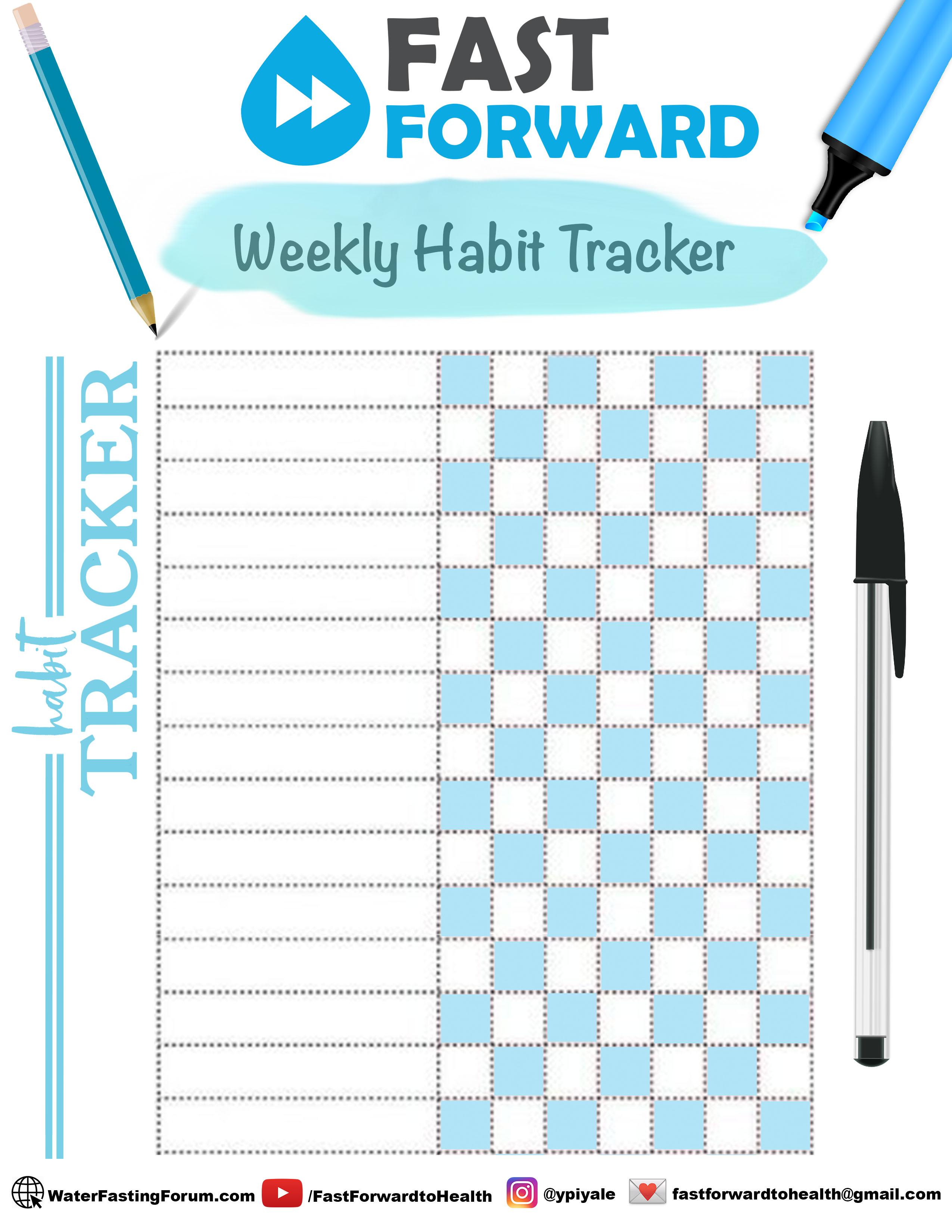 7 Day Habit Tracker