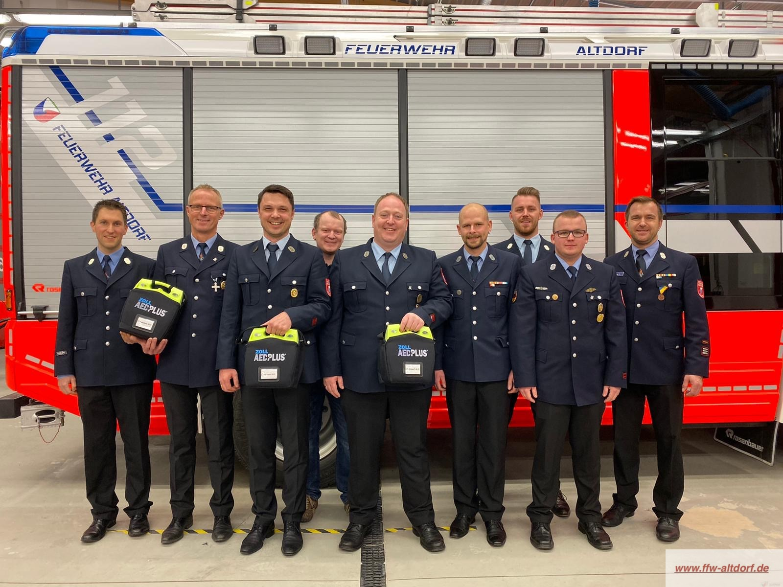 Beschaffung von drei Defibrillatoren für die Feuerwehren des Markt Altdorf
