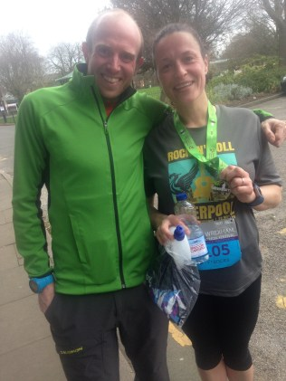 Rob Samuel and me after he won the half!!!
