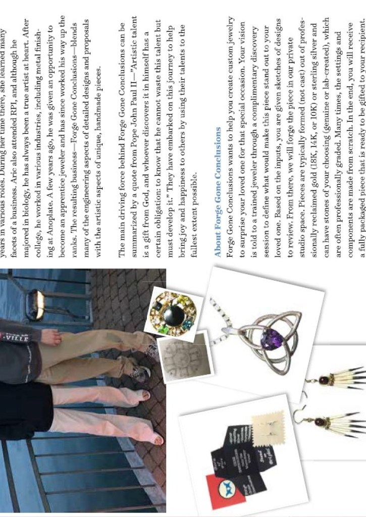 Article about Forge Gone Conclusions in Skaneateles Life Magazine March 2021