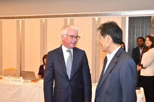 Peter Sands and Hon. Ichiro Aisawa