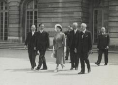 Visite de la princesse Elisabeth en 1947