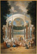 Vue de La Colonnade , avec Apollon et les nymphes, Jean Cotelle