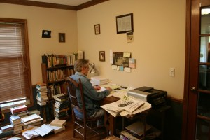At my writing desk, June 21, 2012