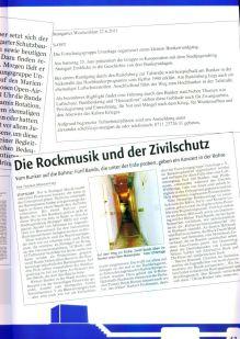 Zeitungsberichte zum Projekt Bunker-Rock 2011.