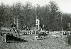 Abschußvorrichtungen für Signalraketen in Mayen. Die Anlage in Weilimdorf war vergleichbar. Foto: NARA