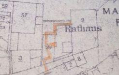 Planskizze des Rathausstollens zur Farbstrasse in Bietigheim. Der Stollen wurde nie gebaut.