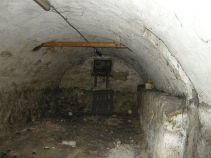 Gewölbekeller unter dem Bahnhofsgebäude. Das Untergeschoß bestand aus einem Gewirr aus Räumen und Gängen.