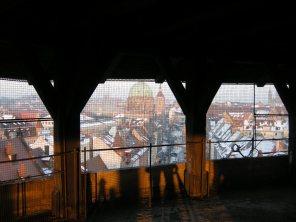 Blick von der ehemaligen Artillerieplattform auf Nürnberg.