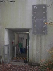 Eingang zum Warnamtbunker.