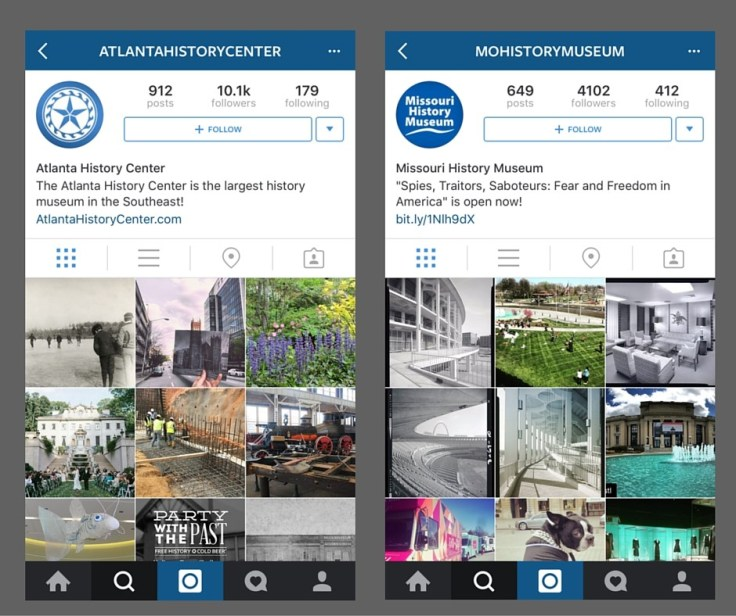 Two ways you can use Instagram for local history: first, follow users like different libraries and archives and museums; second, follow specific hashtags.
