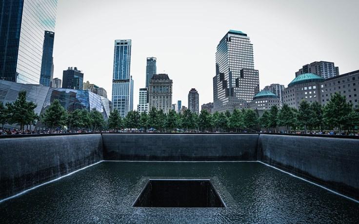 9/11 memorial where the world trade center stood