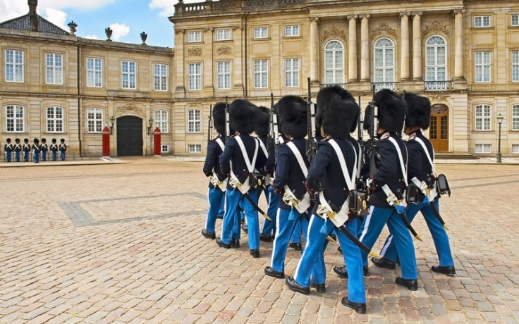 Guards in front of Amalienborg Palace