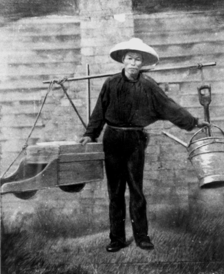 Caption: Chinese gold miner in Queensland, Australia, 1860s.