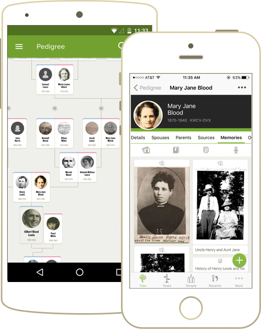 Use the Family Tree mobile app to find relatives near you.