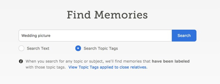 Find Memories screenshot