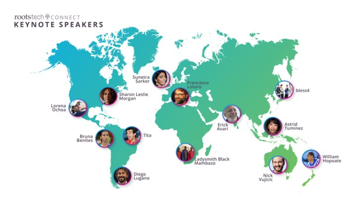 RootsTech keynotes shown from their locations around the world