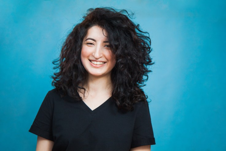 A woman who has armenian heritage due to the armenian diaspora.