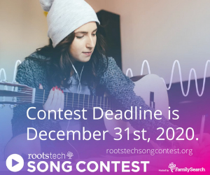 RootsTech Songwriting contest ad