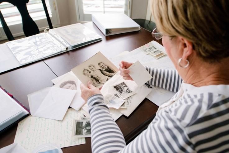 Create a timeline of ancestors' life events.