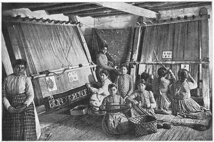 a group of armenian weavers