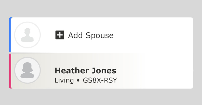 Screenshot showing add spouse button on FamilySearch.