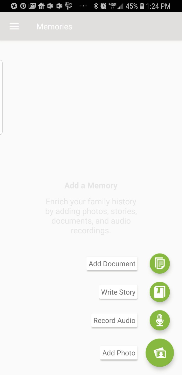 How to add memories to FamilySearch on Android