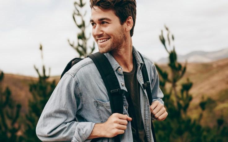 An english man hiking