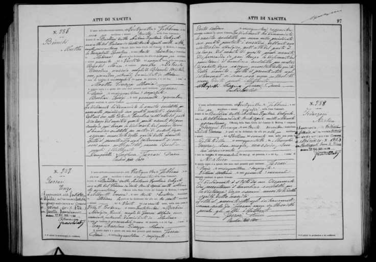 Italian civil registation record