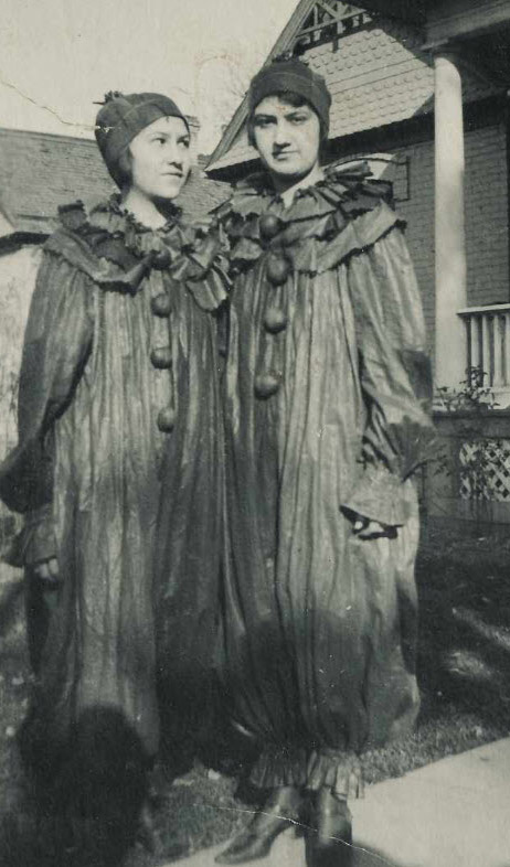 High quality, old clown costumes from 1920s.
