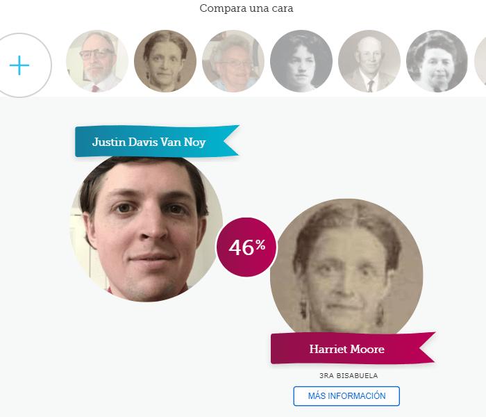 Captura de pantalla de Comparar una cara