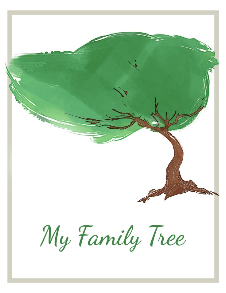 colorful family tree maker graphic