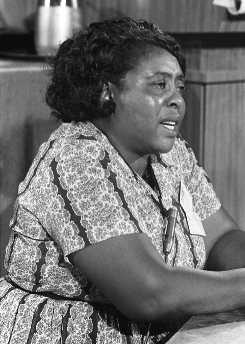 an image of African American woman fannie lou hamer.