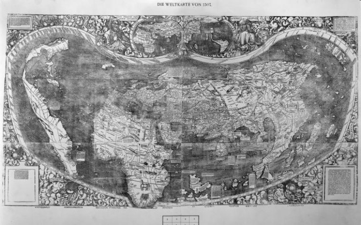 Black and white image of an old map
