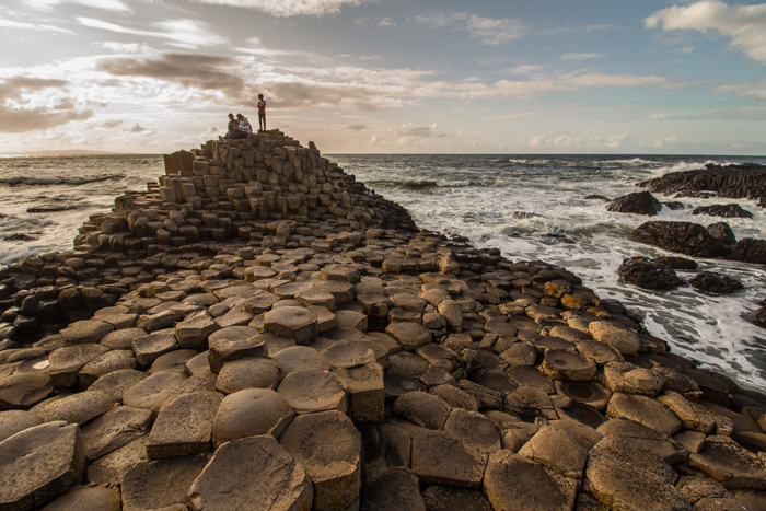 Giant's causeway, a popular tourist site in Ireland