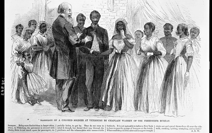 a marriage that took place during the era of the freedmen's bureau.