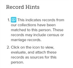 Record hints can provide you with helpful information on newly added records and information.
