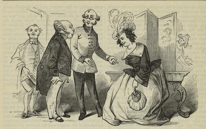 a comic from ireland in the 1850s