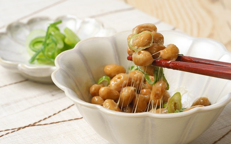 Natto, a traditional breakfast food in Japan