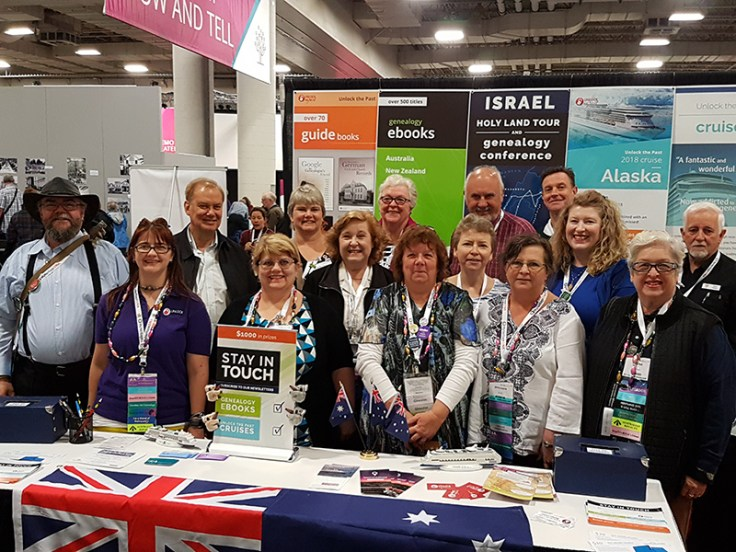 Jill meeting up with other australians at rootstech.