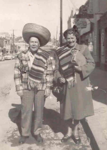 Men wearing traditional sombreros.
