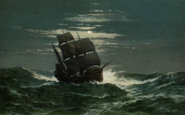 mayflower on rough seas