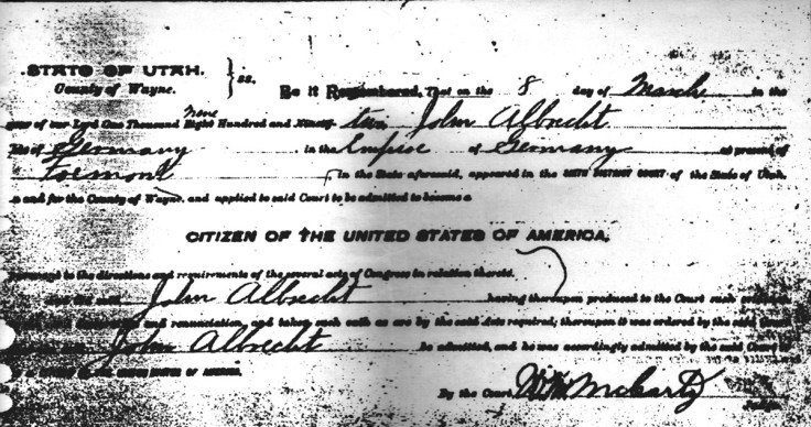 How to recognize one of your immigrant ancestors.