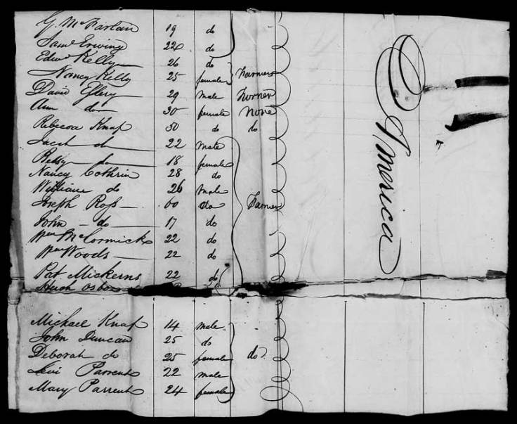 Passenger list of immigration ship found on familysearch