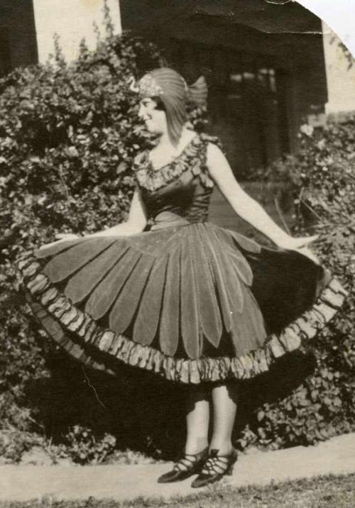 Prize-winning bird costume from 1920s.