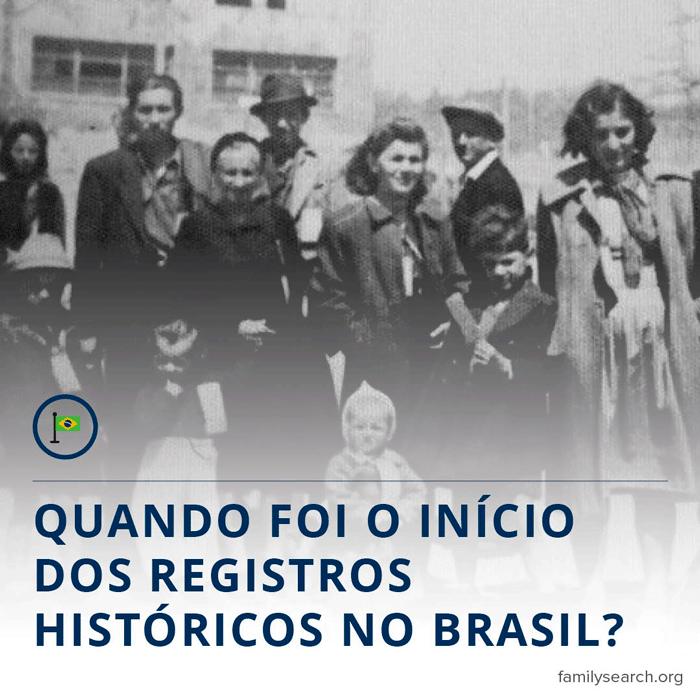 Gráfico do título da cronologia da registros históricos do Brasil.