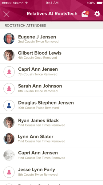 Connect with your living relatives at RootsTech 2018