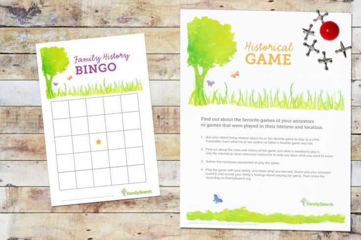 Family Gatherings: family history bingo and historical game free printable