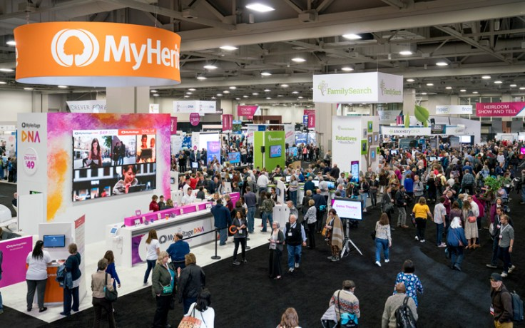 The RootsTech Exhibition Hall in Salt Lake City.